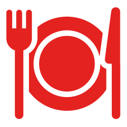 A knife, fork, and plate, showing KET's feeding scheme and nutritional support for physical development of children in Africa