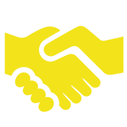 A handshake, showing KET's commitment to partnerships and funders to grow their ECD projects nationally