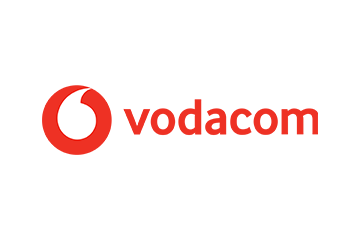 Vodacom logo. The Knysna Education Trust was part of the Vodacom Change the World Programme 2016-2017